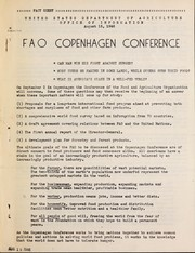 Cover of: FAO Copenhagen conference | United States. Department of Agriculture. Office of Information