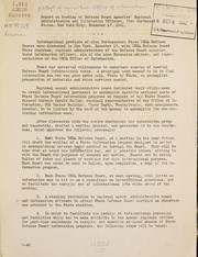 Report on meeting of Defense board agencies regional administrative and information officers, nine northeast states, New York City, December 17, 1941