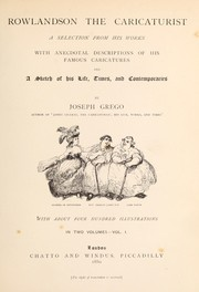 Cover of: Rowlandson the caricaturist