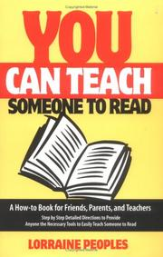 Cover of: You can teach someone to read