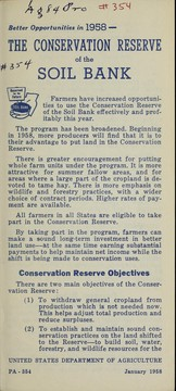 Cover of: The Conservation Reserve of the Soil Bank | United States. Department of Agriculture