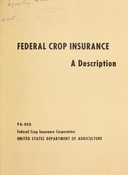 Cover of: Federal crop insurance | William H. Rowe
