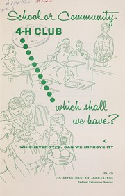 Cover of: School or community 4-H club | United States. Federal Extension Service