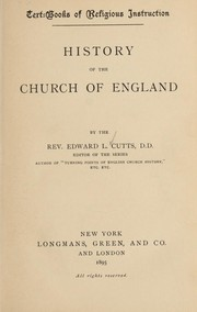 Cover of: History of the Church of England | Cutts, Edward Lewes