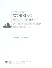 Cover of: A history of working watercraft of the western world | Thomas Charles Gillmer