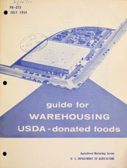 Cover of: Guide for warehousing USDA-donated foods