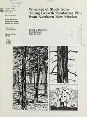 Cover of: Warpage of studs from young growth ponderosa pine from northern New Mexico