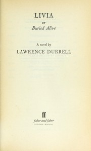 Cover of: Livia | Lawrence Durrell
