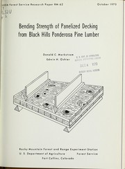 Cover of: Bending strength of panelized decking from Black Hills ponderosa pine lumber