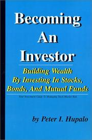 Cover of: Becoming an Investor | Peter I. Hupalo