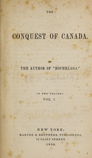 Cover of: The conquest of Canada. | George Warburton