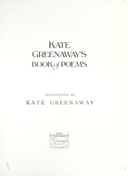Cover of: Kate Greenaway's book of poems