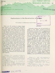 Cover of: Explorations in the germination of sedges | W. M. Johnson