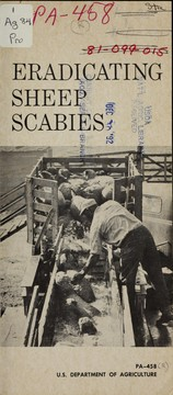 Cover of: Eradicating sheep scabies | United States. Agricultural Research Service. Animal Health Division
