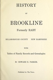 Cover of: History of Brookline | Edward E. Parker