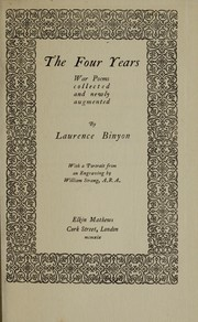 Cover of: The four years
