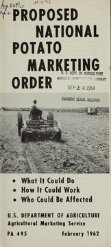Cover of: Proposed national potato marketing order