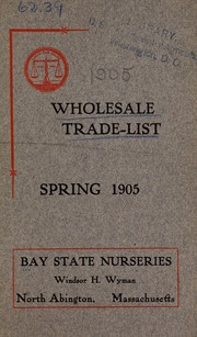 Cover of: Wholesale trade list