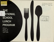 Cover of: The national school lunch program