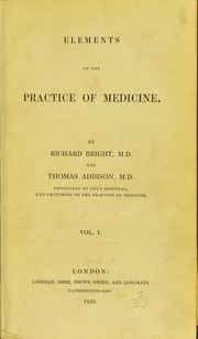 Cover of: Elements of the practice of medicine