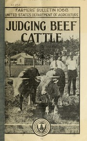 Cover of: Judging beef cattle | E. H. Thompson