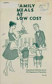 Cover of: Family meals at low cost