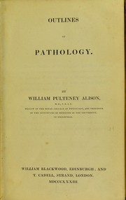 Cover of: Outlines of pathology
