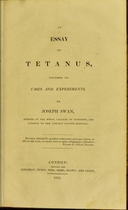 Cover of: An essay on tetanus