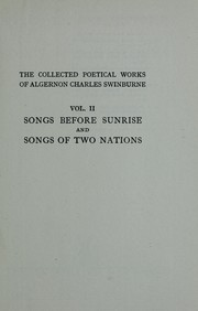 Cover of: The collected poetical works of Algernon Charles Swinburne ..