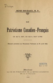 Cover of: Le patriotisme canadien-français