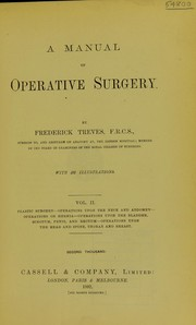 Cover of: A manual of operative surgery