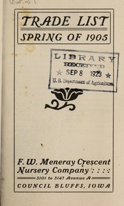Cover of: Trade list | F. W. Meneray Crescent Nursery Company