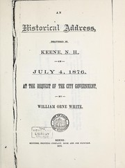 Cover of: An historical address | William Orne White