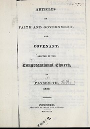 Cover of: Articles of faith and government, and covenant |