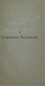 Cover of: A companion dictionary of the English language