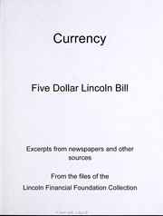 Cover of: Currency | Lincoln Financial Foundation Collection