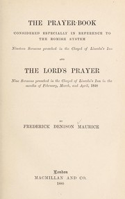 Cover of: The Prayer book