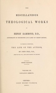 Cover of: Thirty-one sermons preached on several occasions | Henry Hammond