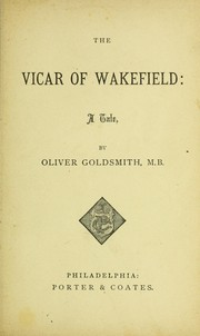 Cover of: The vicar of Wakefield