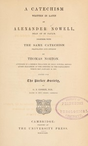 Cover of: A catechism written in Latin