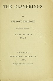 Cover of: Claverings | Anthony Trollope