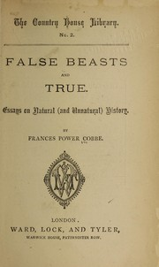 Cover of: False beasts and true