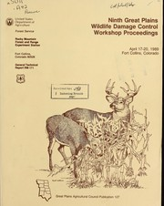 Cover of: Ninth Great Plains Wildlife Damage Control Workshop proceedings | Great Plains Wildlife Damage Control Workshop (9th 1989 Fort Collins, Colo.)
