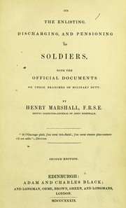 Cover of: On the enlisting, discharging, and pensioning of soldiers | Marshall, Henry