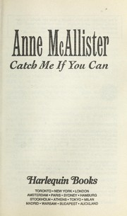 Cover of: Catch Me If You Can (Presents Plus) by Anne McAllister
