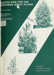 Cover of: Scotch pine for the northern Great Plains | Richard A. Cunningham