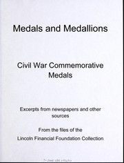 Cover of: Medals and medallions | Lincoln Financial Foundation Collection