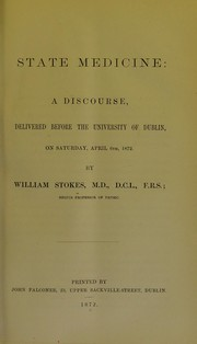 Cover of: State medicine