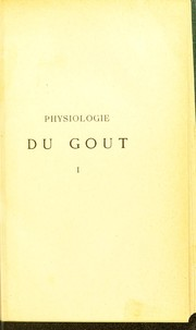 Cover of: Physiologie du gout