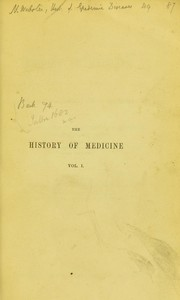 Cover of: The history of medicine | Edward Meryon